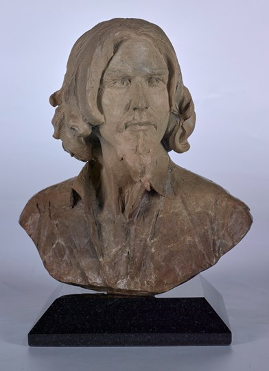 Self Portrait Bust by Fabian Perez - Bronze Sculpture